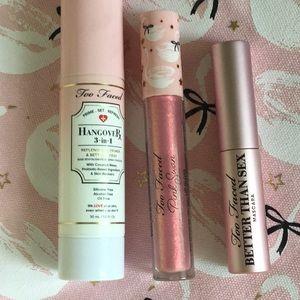 Too faced pinkswan wo eyeshadows (slightly used)